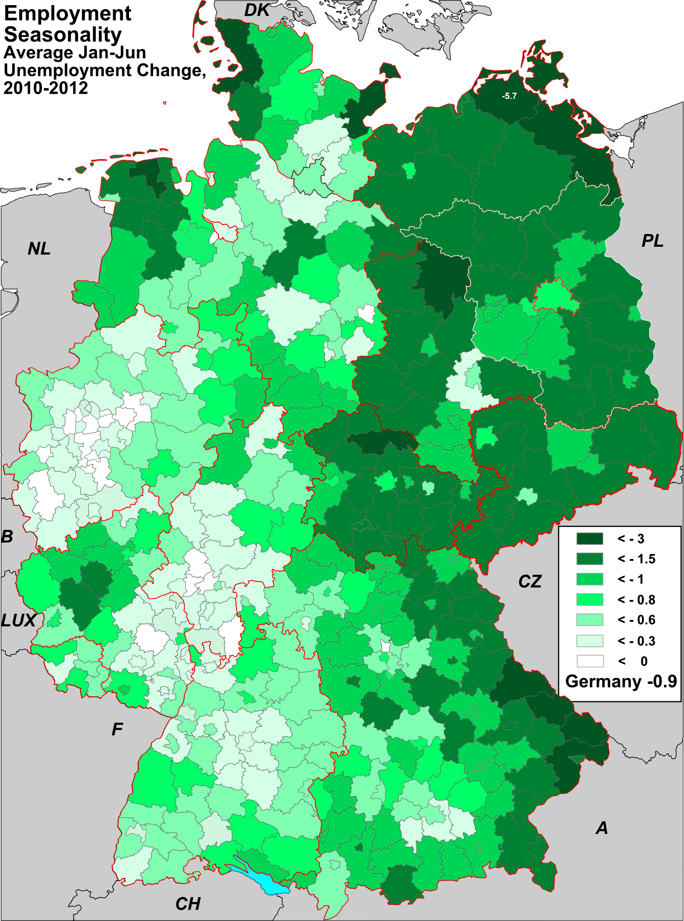 Germany employment maps as shown in the map above hovewer seasonal variations vary strongly from region to region sciox Image collections