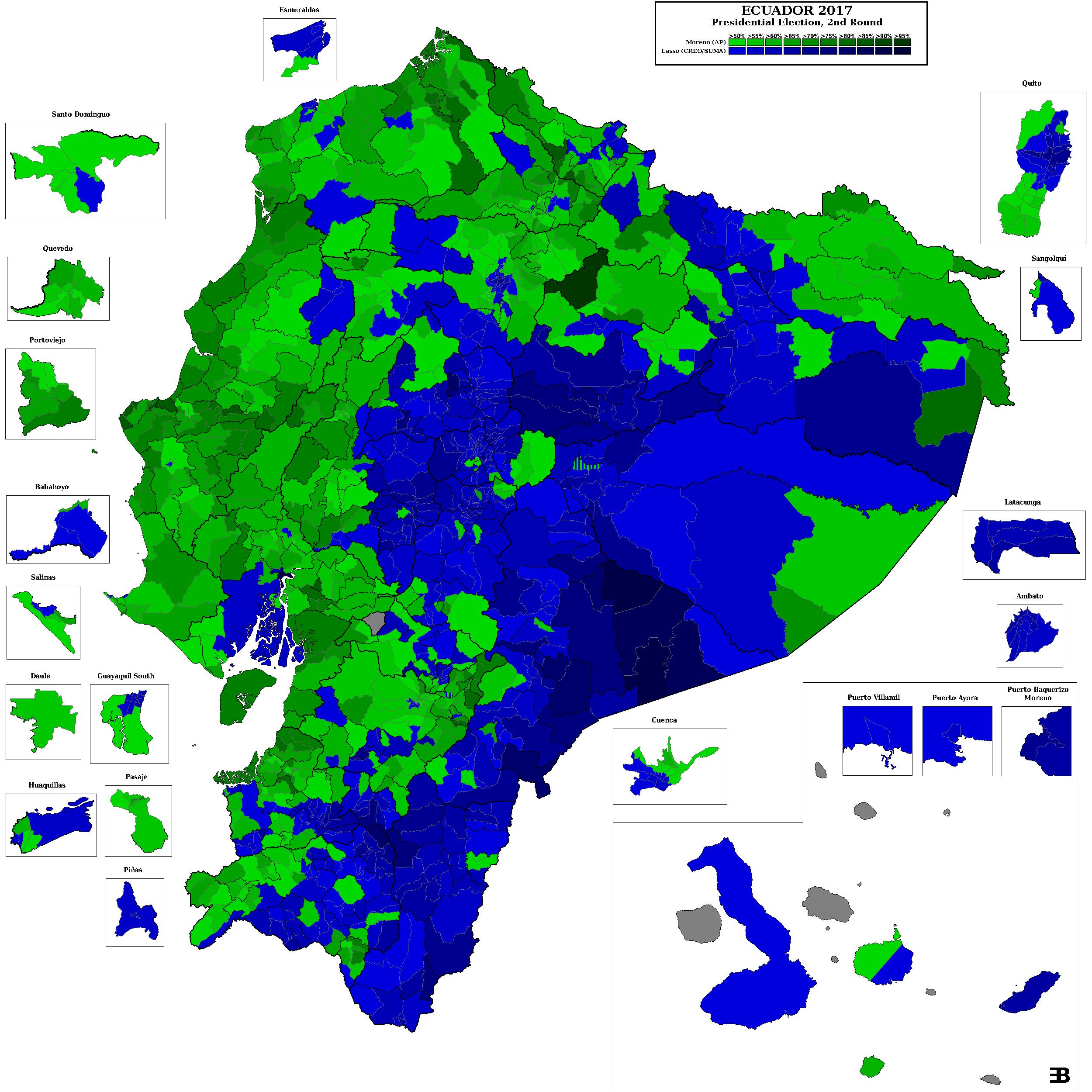 ВЭквадоре окончательно подведены результаты выборов