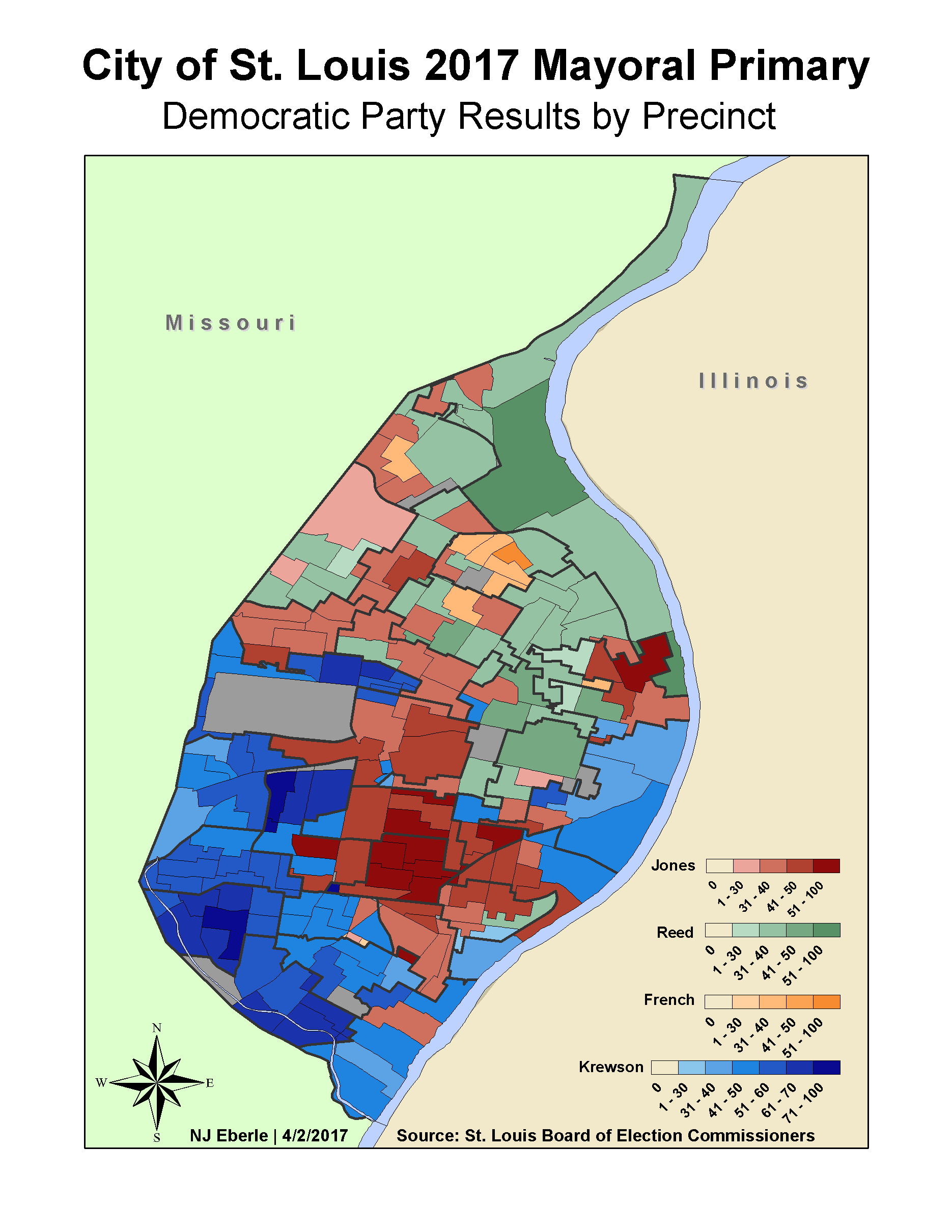 2017 St. Louis Mayoral Primary By Precinct