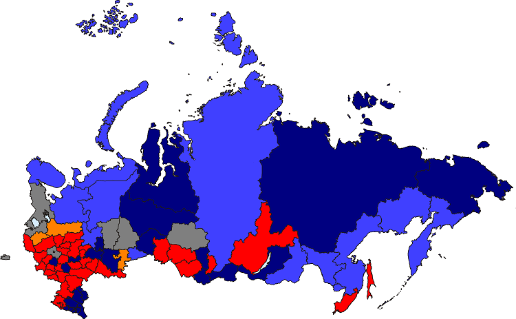 That Might Give An Idea Of What A Close Election In Russia Would Look Like Keeping Current Voters And Parties Think Of It Being A Bit Like A Pvi Map