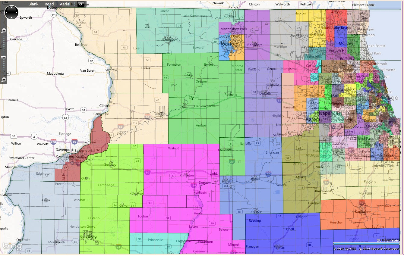 The K Districts Series - Chicago map northwest suburbs