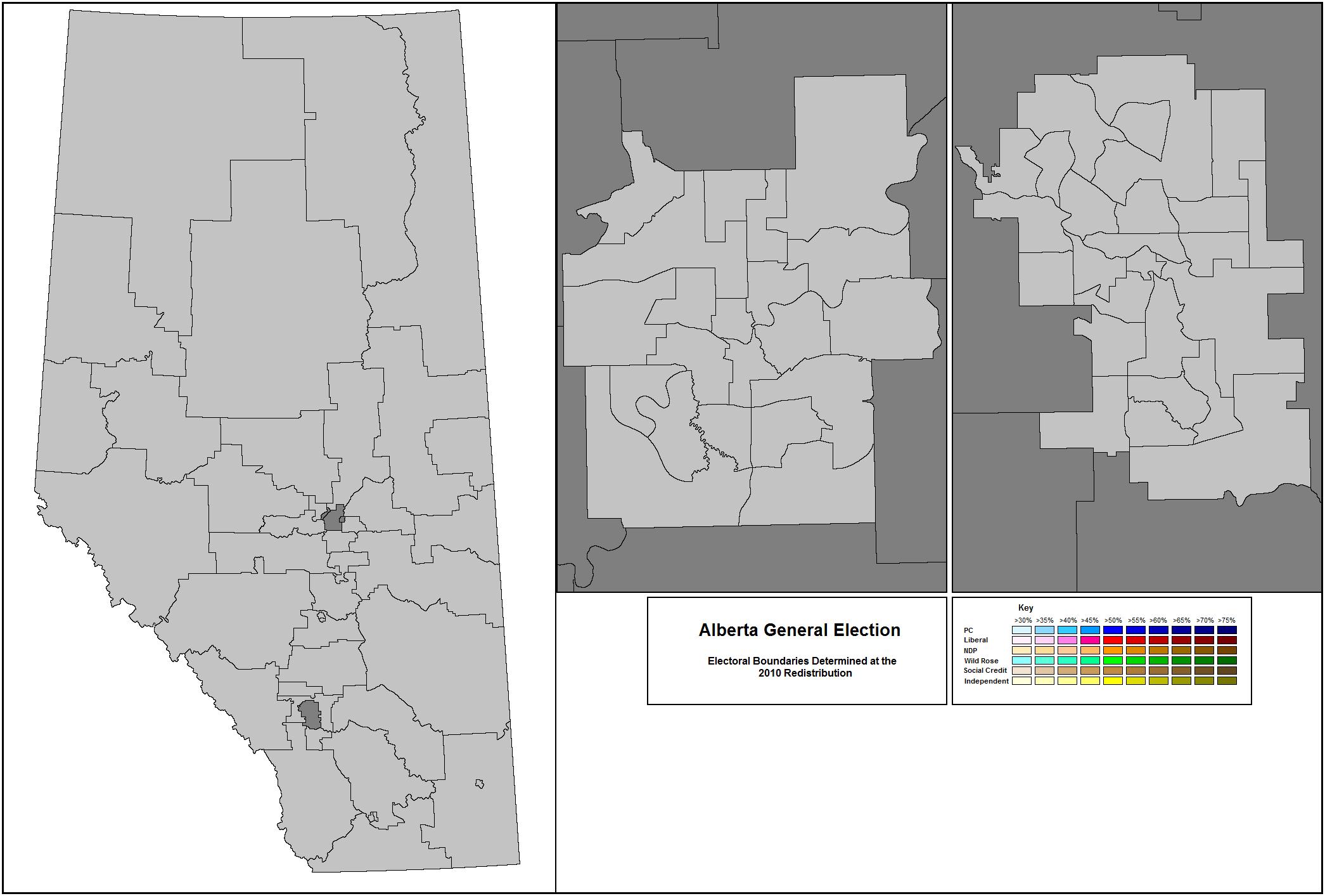 Alberta - Us electoral map blank