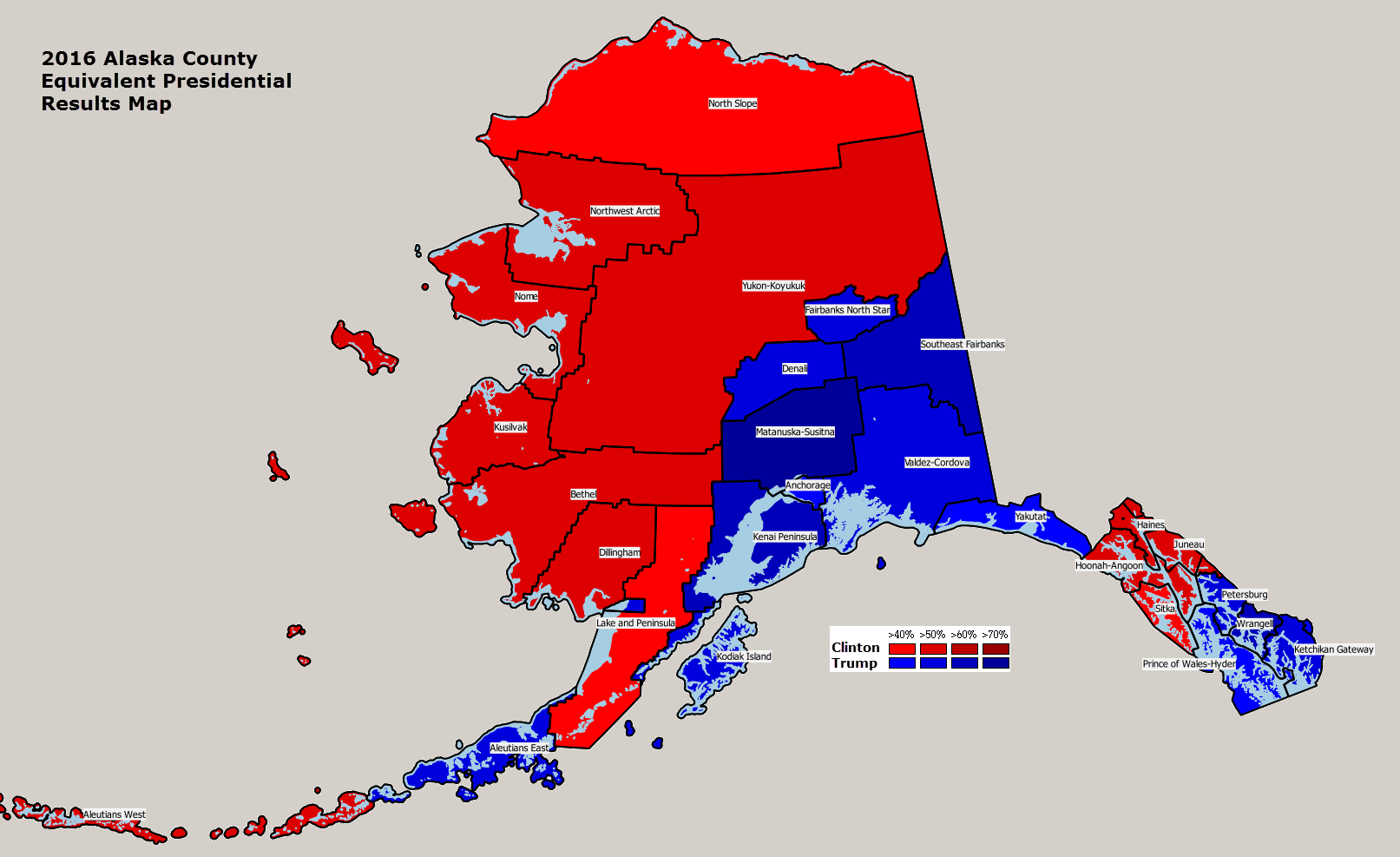 Alaska 2004 Us Presidential Election Results Map