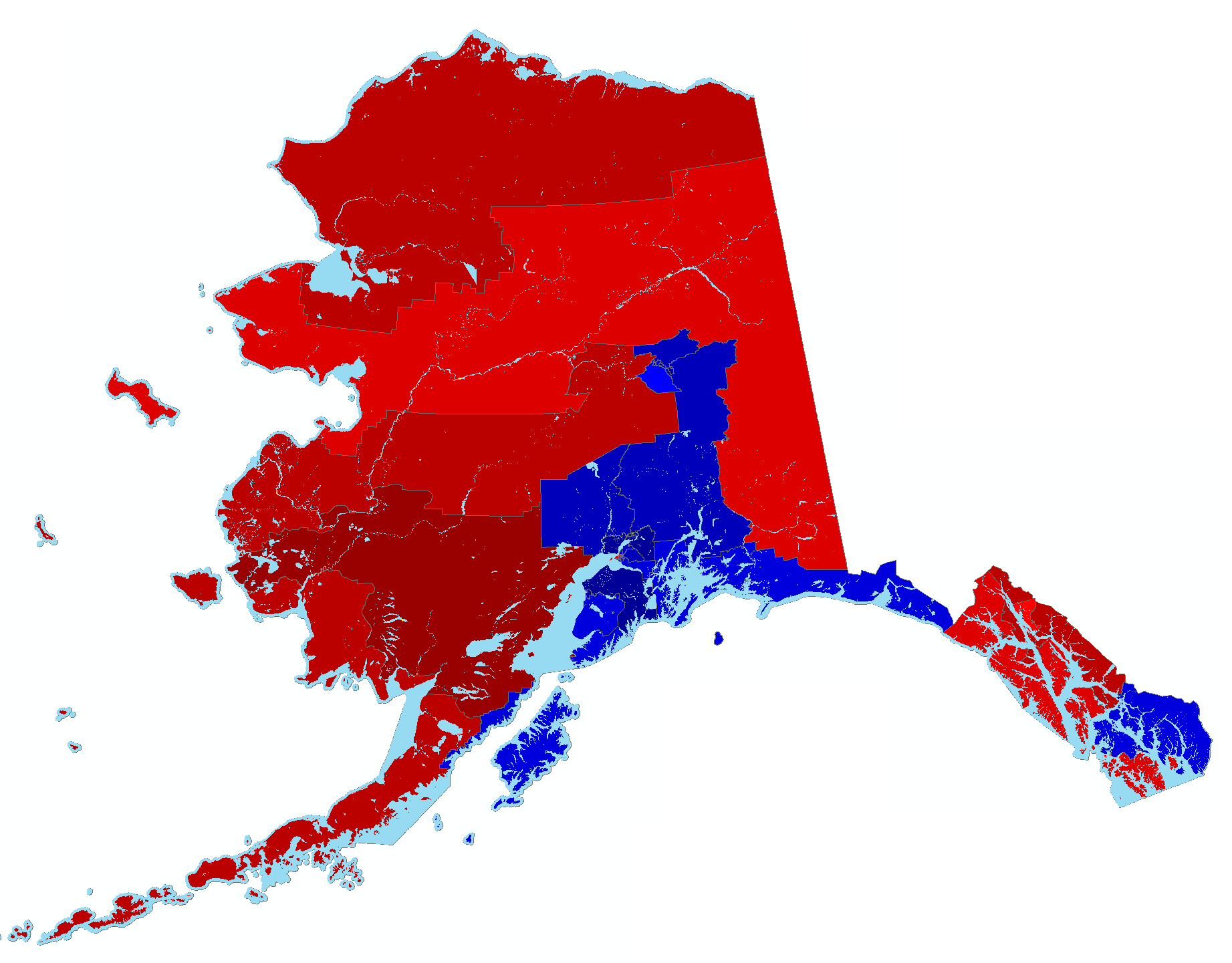 Alaska Results Map by House District