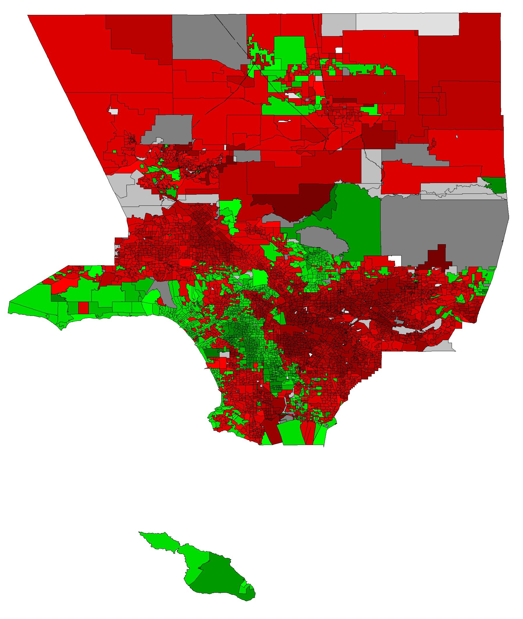 Los Angeles County From The 2008 D Primary I Have Every County In Ca Done Except Merced County