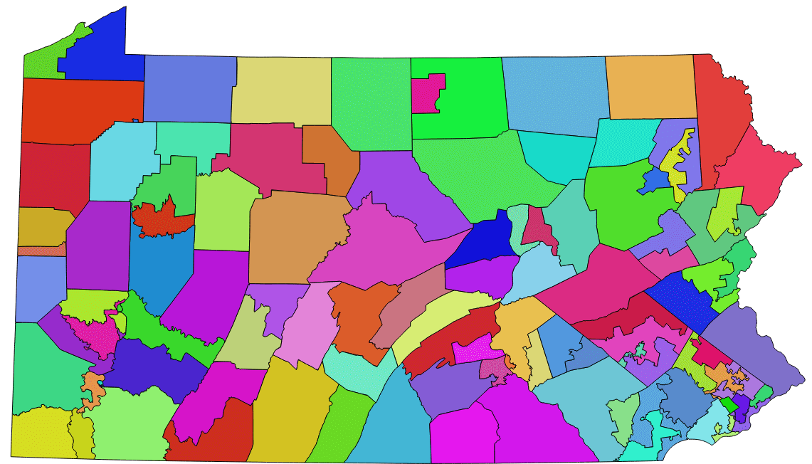 each of the 106 parts form a proto district they will gradually coalesce from 106 to 88 to 74 to 62 to 51 to 42 to 35 to 29 to 24 to 20 to finally 17