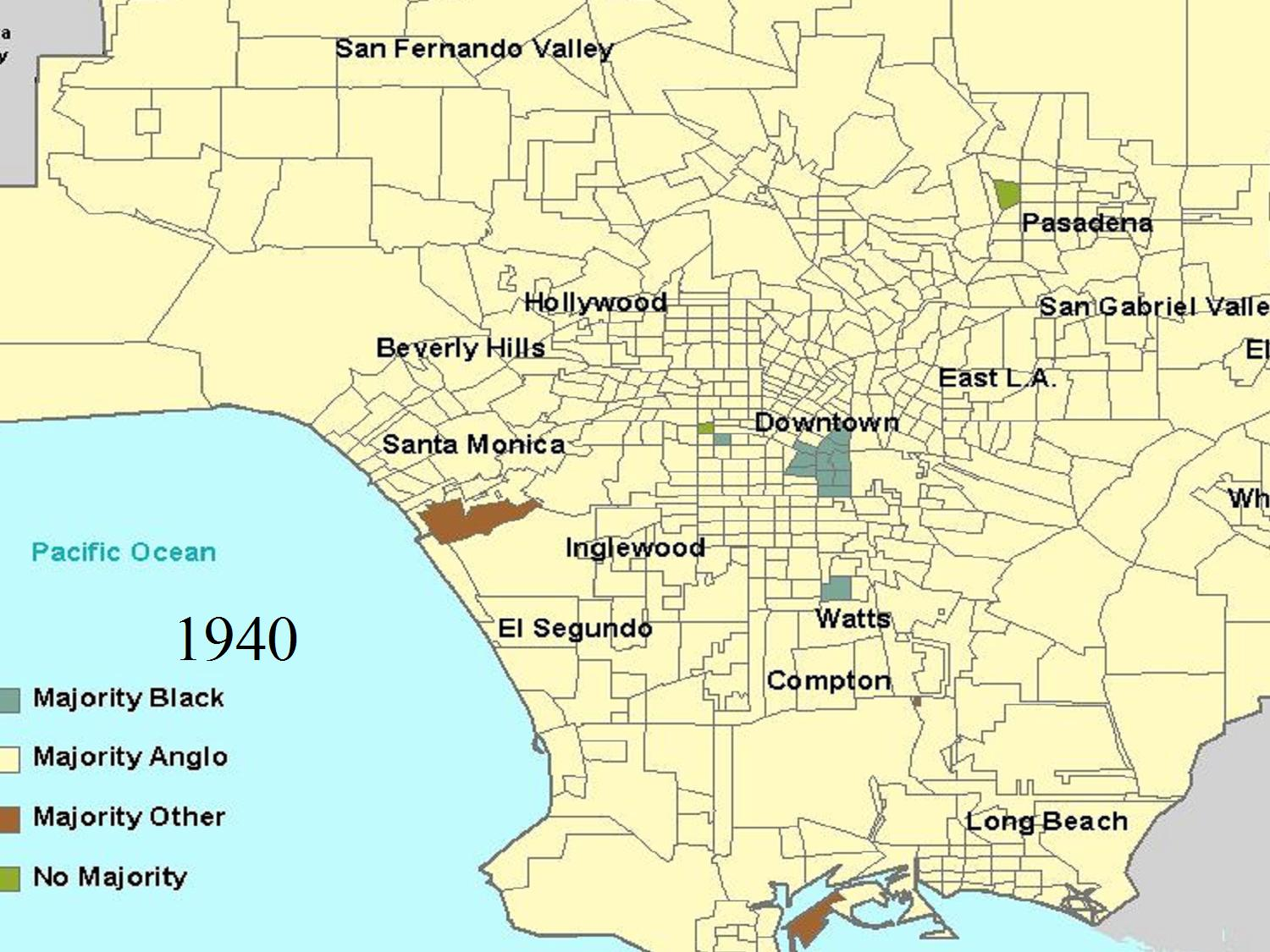 Los Angeles County RacialEthnic Breakdown - Los angeles county line map