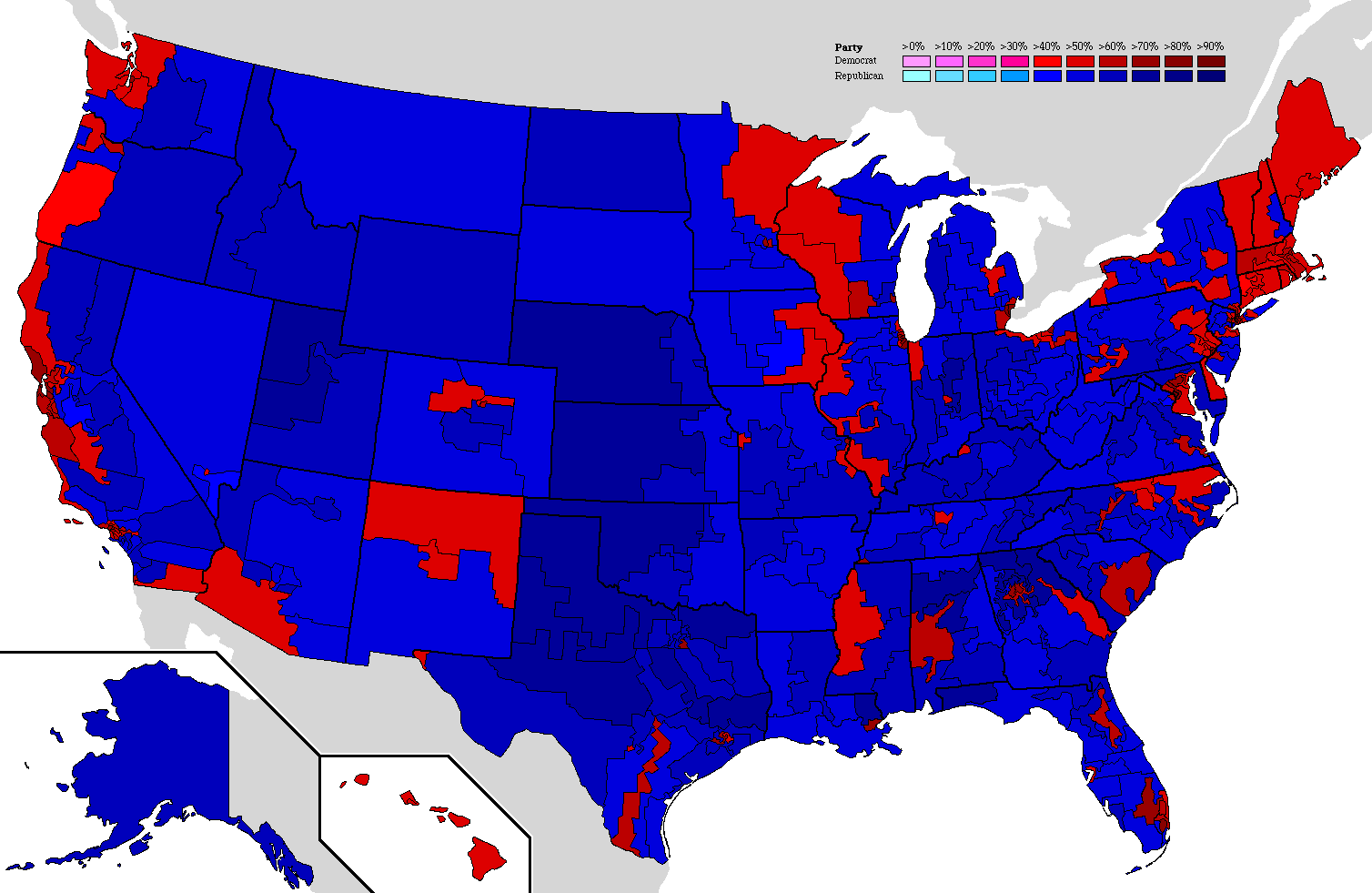 election results by congressional districts official thread presidential