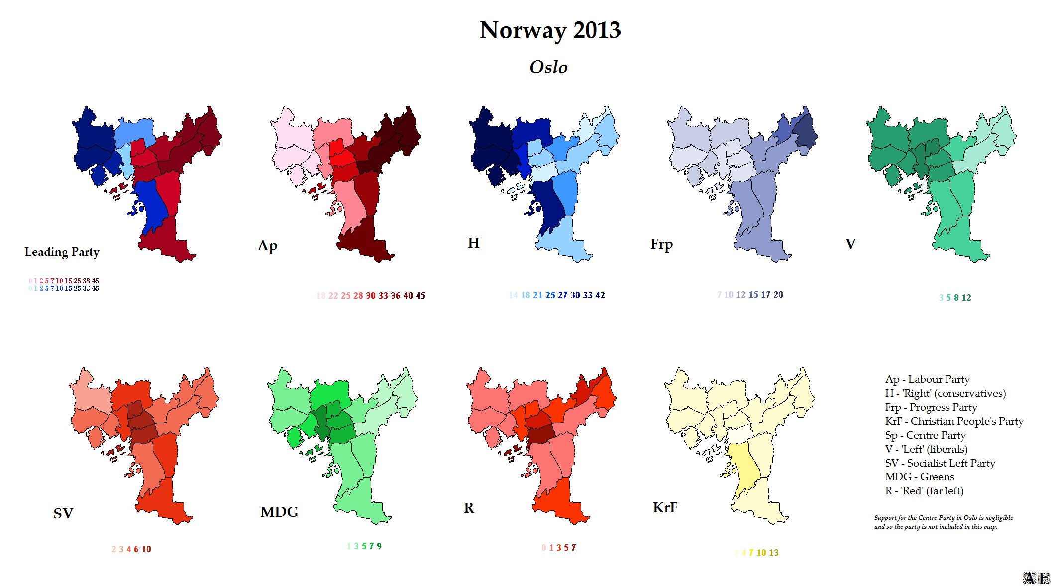 Norway World Elections - Norway election map