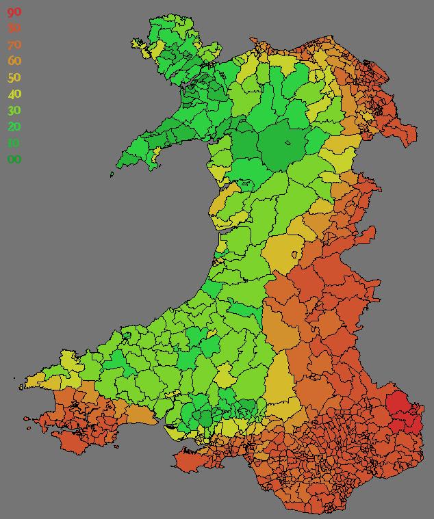UK Demographic Maps - Welsh language map
