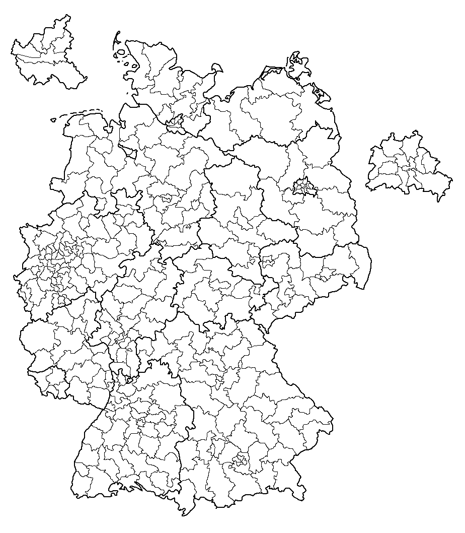 Elections In Germany - Blank us electoral map