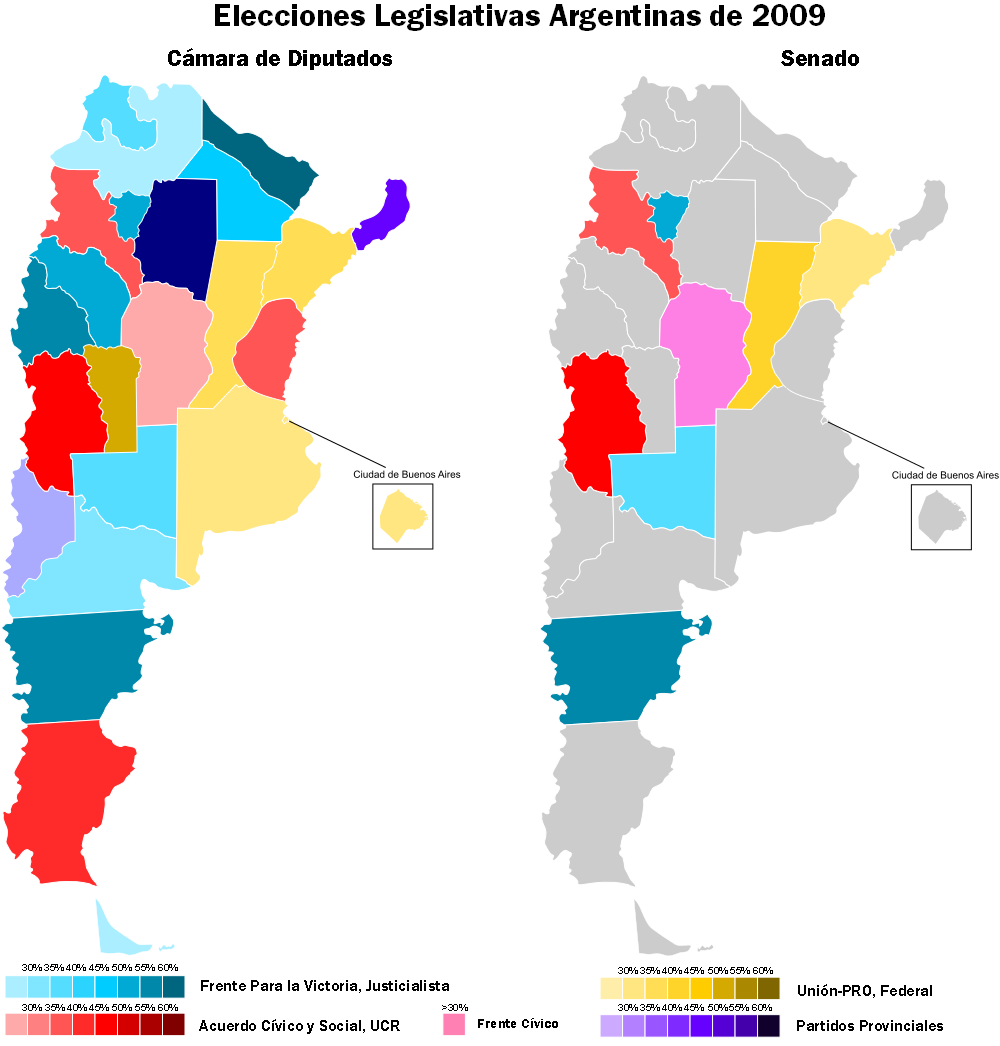 Argentina Legislative Election Primaries And Assorted Maps - Argentina election map